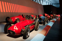 Rennparade bei Museo Nazionale dell'Automobile Lizenzfreies Stockfoto