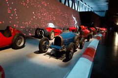 Rennparade bei Museo Nazionale dell'Automobile Stockbild