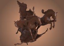 Rennpferde in der Schokolade Stockfotografie