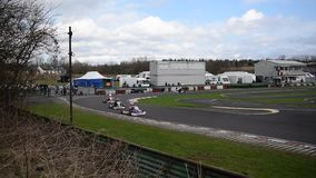 Rennsitzung South Yorkshires Kart Club-SYKC am 12. März 2017 stock video