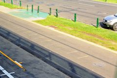 Rennstrecke der Formel 1 in Albert Park, Melbourne, Australien Lizenzfreie Stockfotografie