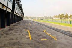 Rennstrecke der Formel 1 in Albert Park, Melbourne, Australien Lizenzfreies Stockfoto