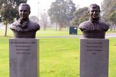Rennstrecke der Formel 1 in Albert Park, Melbourne, Australien Lizenzfreies Stockbild