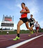 Rennstrecke-männliche Athleten Langstrecken Lizenzfreies Stockbild
