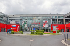Rennstrecke Nurburgring - Informationsbüro Stockbilder