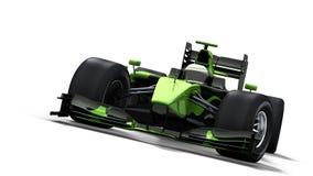 Rennwagen auf Weiß - Schwarzes u. Grün Stockbild