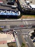 Rennwagen in im Stadtzentrum gelegenem Long Beach Stockbild