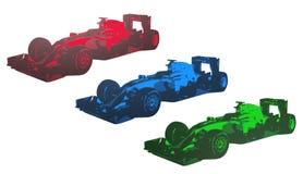 Rennwagenikone, Zeichen, Illustration 3D Stockbilder