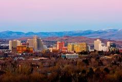 Reno après le coucher du soleil Photographie stock libre de droits