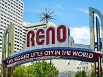 Reno Arch. The biggest little city in the world, the famous Reno Arch Royalty Free Stock Photos