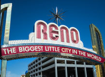 The Reno Arch. Biggest little city in the world, the famous Reno Arch royalty free stock photos