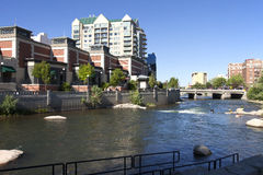 Reno architecture and river. Stock Images