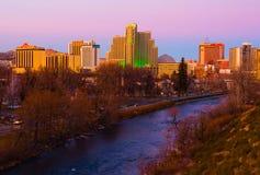 Reno au coucher du soleil Photo libre de droits