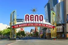Reno The Biggest Little City Stockfotos