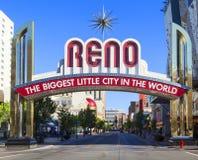 Reno The Biggest Little City Stockfoto