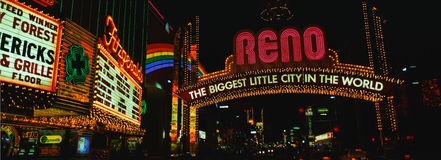 Reno , the biggest little city in the world Stock Photos