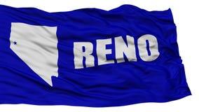 Reno City Flag d'isolement, Etats-Unis d'Amérique Photographie stock libre de droits
