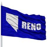 Reno City Flag på flaggstång, USA Arkivfoto