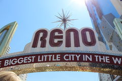 Reno City Sign Stockbilder