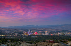 Reno City Sunset Royalty Free Stock Images