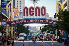 RENO - 4 de julho: Reno Arch o 4 de julho de 2016 em Reno, Nevada Foto de Stock Royalty Free