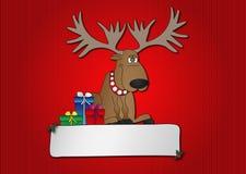 Reno de la Navidad stock de ilustración