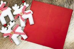 Reno de la Navidad Imágenes de archivo libres de regalías