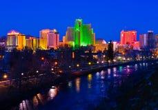 Reno en la noche Imagen de archivo libre de regalías