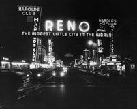 Reno Nevada circa 50-tal (alla visade personer inte är längre uppehälle, och inget gods finns Leverantörgarantier att det ska fin Royaltyfri Bild