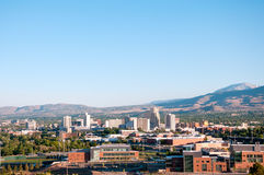 Reno Nevada Downtown Skyline Lizenzfreies Stockbild