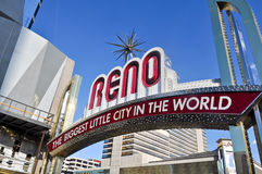 Reno Nevada Entrance Sign Stock Photos