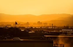 Reno Nevada Sunset. Reno, Nevada Cityscape Sunset. City of Reno, United States. Reno is Known As The Biggest Little City in the World Royalty Free Stock Photography