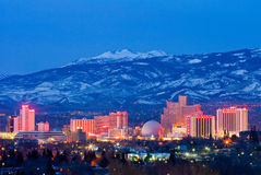 Reno at night Stock Photography