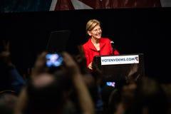 Reno, NV - June 23, 2018 - Crowd Recording Elizabeth Warren Laug. Hing At Nevada Democratic Convention royalty free stock photo