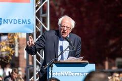 RENO, NV - October 25, 2018 - Bernie Sanders speaking at a polit royalty free stock images