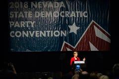 Reno, NV Szeroka kąt fotografia Elizabeth Warren - Czerwiec 23, 2018 - obraz stock