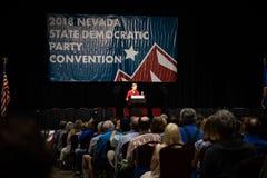 Reno, NV Szeroka kąt fotografia Elizabeth Warren - Czerwiec 23, 2018 - obraz royalty free