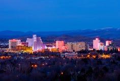 Reno på natten Fotografering för Bildbyråer