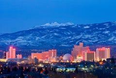 Reno przy nocą fotografia stock