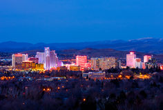 Reno przy nocą Obraz Stock