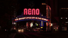 Reno Sign The Biggest Little City in the World stock video