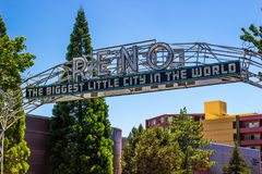 Reno Sign Over Street fotos de stock royalty free