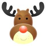 Reno sospechado rojo de Rudolph Fotos de archivo libres de regalías