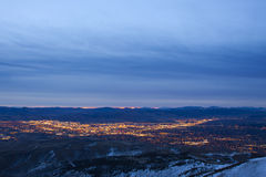 Reno-Stadt-Sonnenaufgang Stockfotos