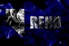 Reno-Stadtrauchflagge, Nevada State, die Vereinigten Staaten von Amerika lizenzfreie stockfotografie