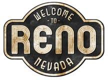 Reno Street Sign Vintage Royalty-vrije Stock Fotografie