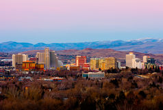 Reno after the sunset Royalty Free Stock Photography