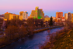 Reno at sunset Royalty Free Stock Photo