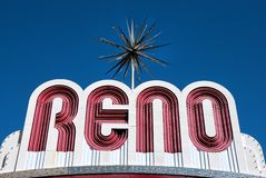 Reno welcome sign Royalty Free Stock Photography