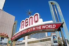 Reno welcome sign Stock Photos